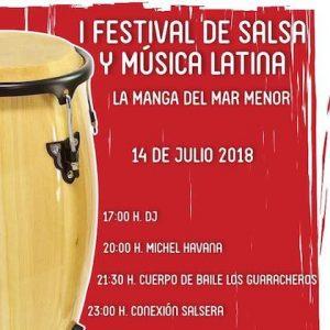 """Actuación Cía. """"Los Guaracheros"""" en Festival de la Salsa y música latina en La Manga. Murcia"""